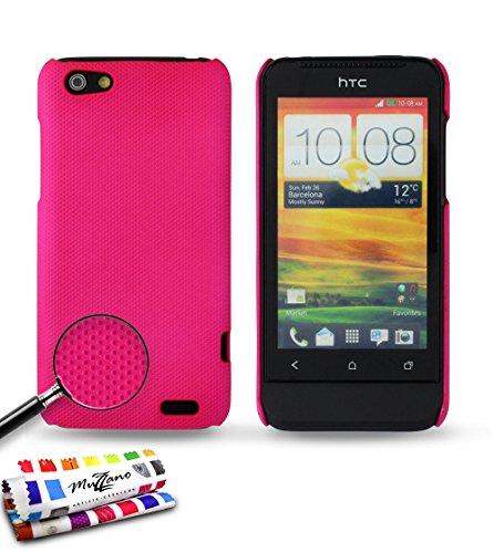 MUZZANO Original Pika-Custodia Rigida a Conchiglia per HTC One V-Hot, Colore: Rosa