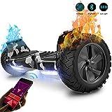 GeekMe Gyropode 8.5 Pouces Hoverboard Tout Terrain Scooter Auto-équilibré Electrique avec Moteur Puissant LEDs Bluetooth APP pour Adultes et Enfants