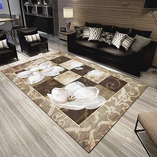HSB Area Rugs Large Modern Accent Floral Pattern Throw Rugs Super Soft Non-Slip Chic Distressted Floor Carpet for Bedroom Living Room (Size : 200300cm)