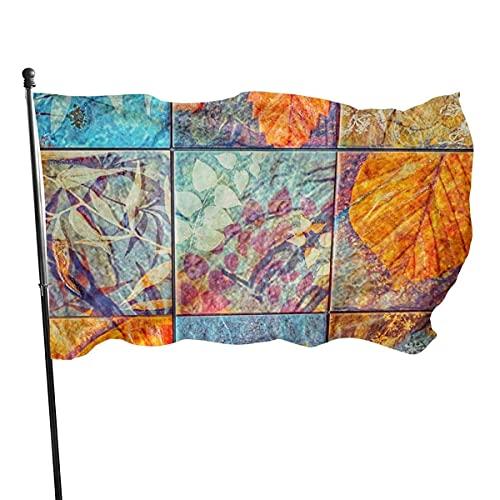 Bandera de jardín banderas de jardín, azulejos desgastados duraderos en el interior para proteger los rayos UV, decoración de fiesta de patio, 3 x 5 pies