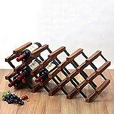 FENGFAN Porte-bouteilles et rangement en bois sur pied, parfaits pour les armoires et caves à vin de bar (taille : 18 bottles)