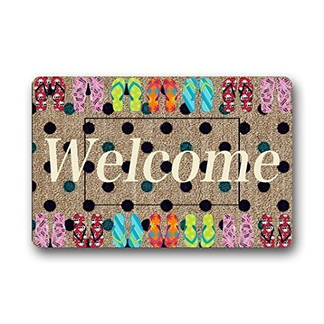 Homie Design Fashion /Outdoor Washable Doormat Yoga Ymbol Namaste The Dark Custom Door Mat/Gate Pad 23.6 X 15.7 Inch Indoor/Outdoors