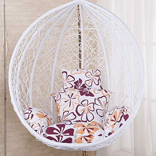 Kaikai Swing Hanging Basket Seat Cushion,Nest Hanging Chair Back With Pillow Hanging Egg Hammock Chair Cushioning for Livingroom or Bedroom (Color : Pink)(NO CHAIR) (Color : C)