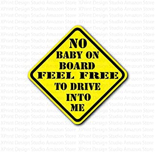 Reduce Road Rage and Accidents for New Parent and Baby Reflective Vehicle Car Sign Sticker Bumper for New Parents 1 Pack GAMPRO 5x5 Inches Baby ON Board Reflective Vehicle Bumper Magnet