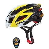 Wansheng Casco Livall Smart Bike Bluetooth con Manillar Inalámbrico Señales De Giro De Luz De Control Remoto, Leds De Seguridad Y Altavoces Bluetooth CPSC Y Casco De Ciclista Certificado CE
