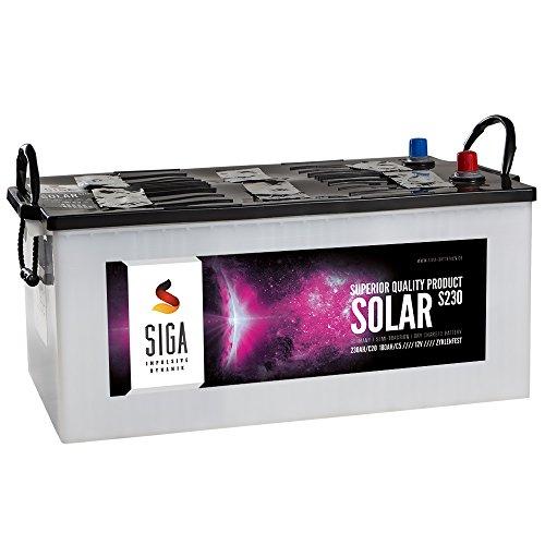 SIGA Solarbatterie 12V 230AH trocken vorgeladen Versorgungsbatterie Boot Antrieb Wohnmobil Beleuchtung Batterie