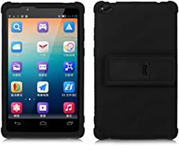 HminSen Colorful Case for Lenovo Tab 4 8 inch only TB-8504F or TB-8504X (NOT for TB-8304F or Plus Model TB-8704) [Anti Slip] Protective Cover for Lenovo Tab 4 8 Inch HD Tablet 2017 Release, (Black)