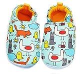 Gavena Zapatos de bebé sin Cordones para Primer Paseo con Suela de Goma Antideslizante Suave 12-18 Meses Zoo
