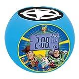 Lexibook Disney Toy Story Woody & Buzz Projektor-Radiowecker, Soundeffekte, Batterien, Blau, RL975TS