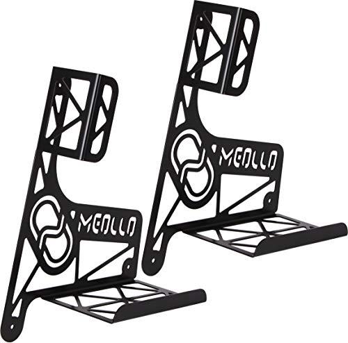 MEOLLO Kinderroller Scooter Wandhalterung (100% Stahl) (2 x schwarz)