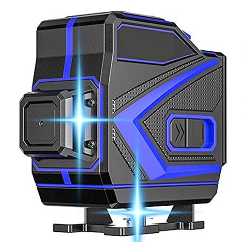 SXTYRL Nivel láser, Azul Línea, Líneas Láser, Horizontales Verticalesmultifuncional, Línea De Rayo láser, Usado para Interiores, Recargable, Batería (Color : Black)