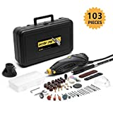 DETLEV PRO Rotary Tool Kit with 103 Accessories, 7 Variable...