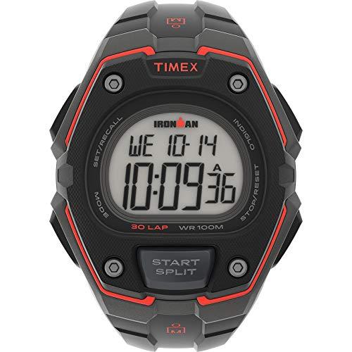 Timex Men's Ironman Classic 30 Oversized Quartz Running Watch with Resin Strap, Black, 18 (Model: TW5M460009J)