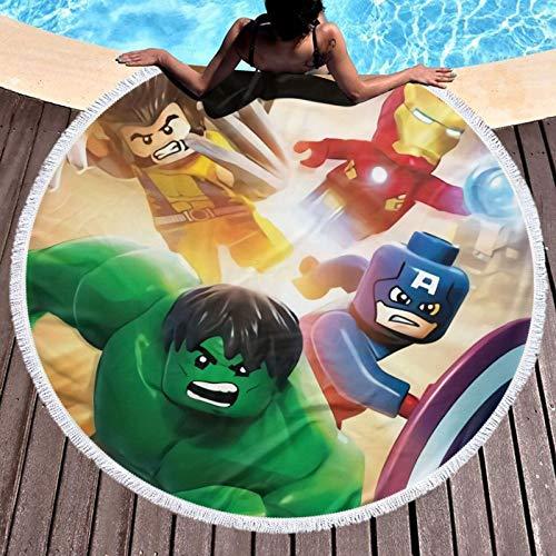 Mar-vel Super Hero Quick Dry Beach Towel Travel Microfiber Bath Towel...