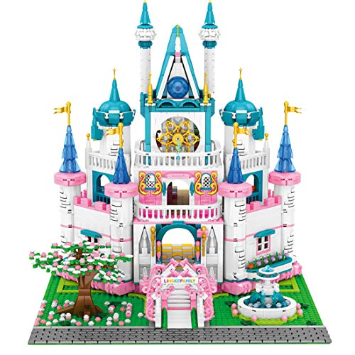 Leic 41154 Princess Castle Model 3008Pcs Building Blocks City Street View Architecture Bricks Toy for Disney Princess Cinderellas Dream Castle Compatible with Lego