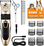 Bonve <span class='highlight'>Pet</span> <span class='highlight'>Dog</span> <span class='highlight'>Clippers</span>, Cordless <span class='highlight'>Dog</span> <span class='highlight'>Grooming</span> <span class='highlight'>Clippers</span> Low Noise, Rechargeable <span class='highlight'>Professional</span> Hair Trimmer Kit with 6 Guides Scissors for <span class='highlight'>Dog</span>s Cats <span class='highlight'>Pet</span>s