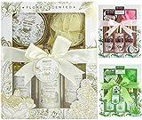 BRUBAKER Cosmetics set beauty da bagno e doccia 'Vaniglia, rose e menta' - set regalo in 5 pezzi...