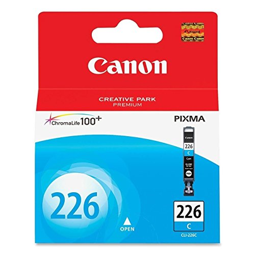 Canon CLI-226 Cyan Ink Tank Compatible to iP4820, MG5220, MG5120, MG8120, MG6120, MX882, iX6520, iP4920, MG5320, MG6220, MG8220, MX892, Model:4547B001