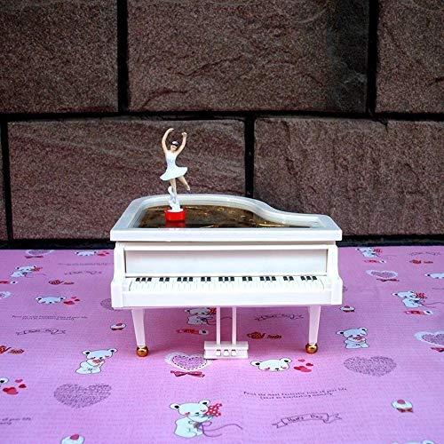 JFYCUICAN Boîte à Musique Piano Fashion Music Box Bague Creative Box Beau Cadeau Belle Ballet Fille Rotation Music Box