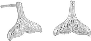 Jenny BaBy Jewelry S925 Sterling Silver Mermaid Tail Fish Earrings