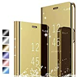 Hikissny Cover Huawei Mate 9 Coque, Mirror Case Anti-Rayures Anti-Choc Housse de Protection Clear...