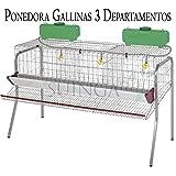 Bateria GALLINAS PONEDORAS 3 departamentos. Capacidad 15 gallinas. Medidas 155 x 70 x...