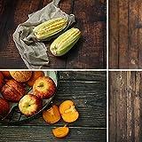Fotografía de alimentos sin costuras 2 en 1 telones de fondo para Foodies, pastelerías y más de doble cara de madera marrón Fondo de estudio fotográfico DP27 40 x 88 cm