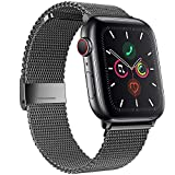 SSEIHI Correa Compatible con Dispositivos Apple Watch 38mm 40mm 42mm 44mm,La Pulsera Loop es una Malla de Acero Inoxidable Correa al ser magnética para iWatch Series 6/SE/5/4/3/2/1, Sport, Edition