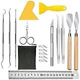 Swetup 18 piezas de vinilo herramientas de deshierbe, Plotter accesorios herramientas para plóter de acero inoxidable accesorios para manualidades Herramientas Cricut para deshierba
