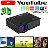 UNIC 2018 UC46 Mini Full hd LED WiFi Projector 1200 lumi HDMI Airplay