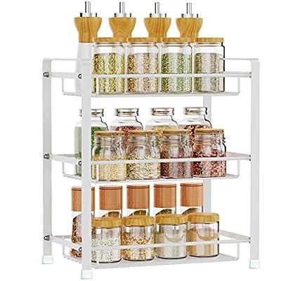 Spice Rack, Veckle 3 Tier Kitchen Bathroom Coun...
