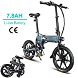 FIIDO D2 16 inch Folding Electric Bike with Pedals, 36V 250W Foldable e-bike with Removable Large Capacity 7.8Ah Lithium-Ion Battery City e-bike,Lightweight Bicycle for Teens and adults