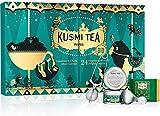 Kusmi Tea - Adventskalender mit 2 Mini Teedose und 20 Teebeuteln (grüne Tees, schwarze Tees,...