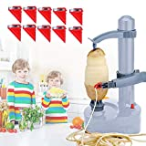 Electric Potato Peeler Rotato Express Stainless Steel Automatic Rotating Fruits Fruit Potato Peeler Vegetables Cutter Apple Paring Machine Kitchen Peeling Tool with 10 Replacement Blades