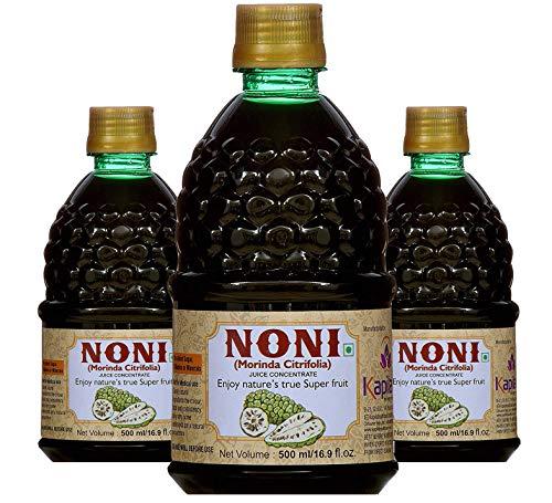 KAPILA NONI Sugar-free Health Care Juice Concentrate, 500 ml (Pack of 3)