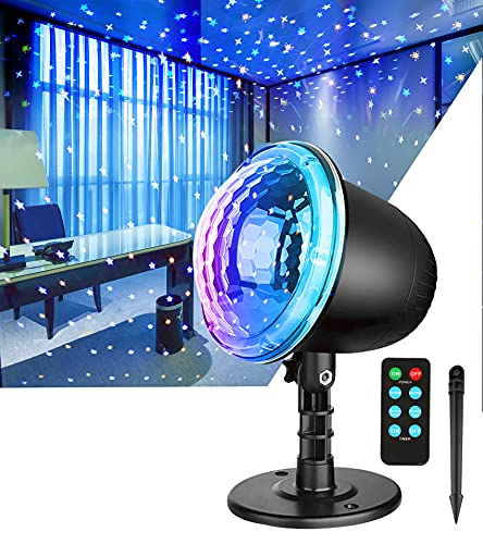 Star Projector Night Light,Indoor Holiday Light Projector with Remote Control and Timer,Outdoor Waterproof Landscape Light Projector for Kids Bedroom Garden Wedding Gift Halloween Christmas Decor