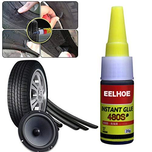 Autopanne Reparatur Sealant Kleber, Reifen Reparatur Patch, Mighty Reifenreparatur Kleber, Alleskleber Super, Reifen Reparatur für LKW, Geländewagen, Geländewagen, Fahrrad, Rasentraktor (200 ML)