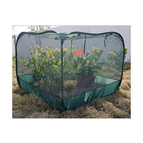 WWZL Casa de Cultivo Emergente de Jardín Prevenir la Tienda de Insectos y Pájaros Red Plegable Verde Oscuro para Granja de Jardín