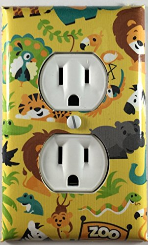 Kids Safari Animals Outlet Plate Cover