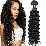 Angie Queen Hair Deep Wave One Bundle Brazilian Virgin Hair Deep Wave Human Hair Extension Unprocessed Human Hair Weave Natural Black Color Can Be Dyed and Bleached (28)