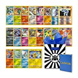 20 Authentic Pokemon Cards All Holographic with Monster Packz Gift Bag and Card Box
