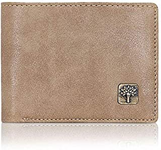 Woodland-o-Wallet Men's Leather Casual Regular Purse Wallet (Blue)
