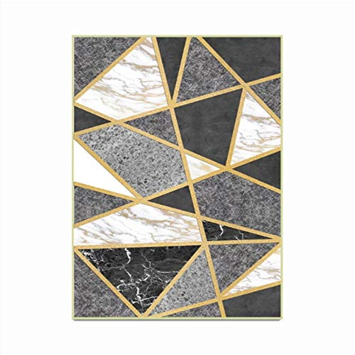 artkingdom Alfombra Alfombrillas decoración de la Sala Alfombra Resumen mármol Oscuro Tamaño 80 * 160 cm