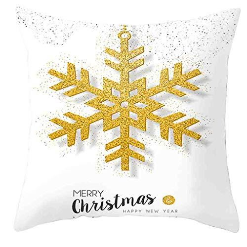 Arystk Christmas Pillow Cover Decor Pillow Case Sofa Waist Throw Cushion Cover