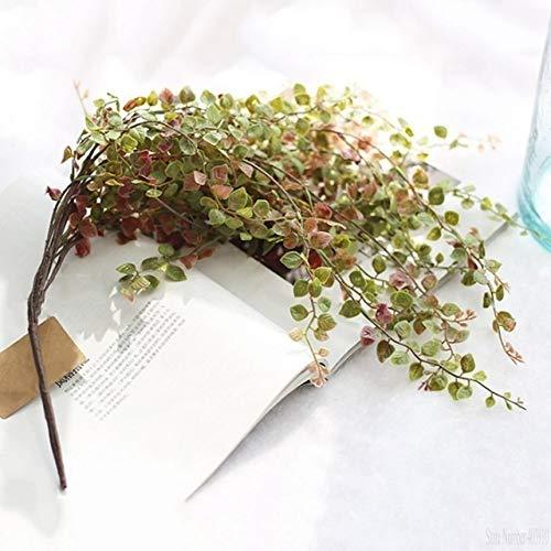 Roovtap 1 PCS/Gold- und Silber-Blätter Künstliche Pflanzen Lange Vine Green Home Szene Dekoration Hochzeit Gefälschte Zubehör Dried Flower (Color : 1 PCS)