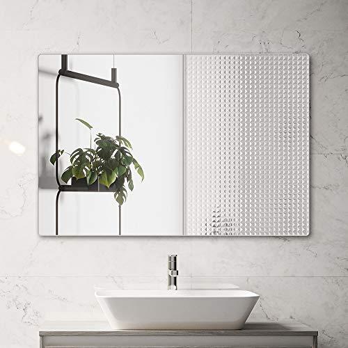 belle electrical Bathroom Mirror for Wall, 32x24 inch Rectangular Silver Wall Mirror -