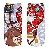 Basisago Weihnachtsferien Socken, Baumwollsocken Low Cut Söckchen Gedruckt Spaß Bunt Festlich Komfortabel, Geeignet Für Jungen Und Mädchen Sandalen, Stiefel, Sneaker, Laufschuhe
