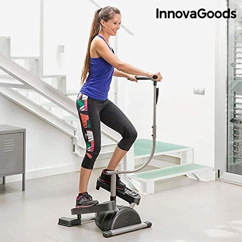 InnovaGoods IG116363 Máquina de Step, Unisex Adulto, Gris/Negro, Talla Única