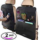 MyTravelAide Kick Mats with Car Backseat Organizer - XL...