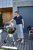 Grillschürze Kochschürze Kellnerschürzen Vorbinder Bistroschürze Serviceschürze mit Taschen, Unisex Grau, 80x80cm - 6